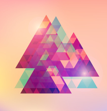 Triangular space design  Vector triangle  Template  Иллюстрация
