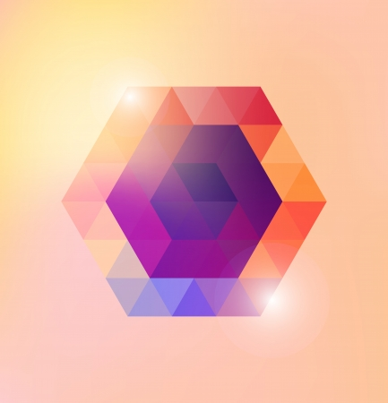 ksztaÅ't: Abstrakcyjny kształt Wektor błyszczący gexagonal szablon Ilustracja