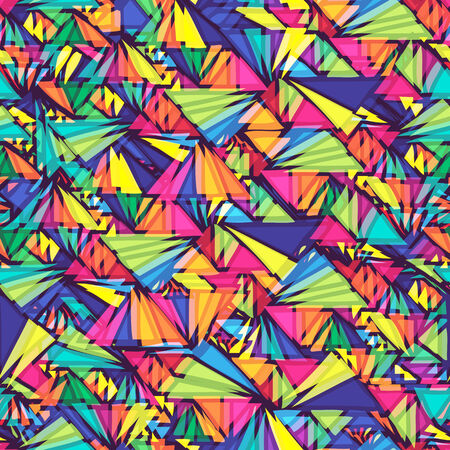 wallpaper vibrant: Geometric pattern with triangles  Seamless pattern