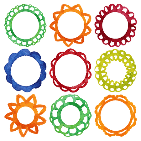 Collection of vector frames Stock Vector - 24117663