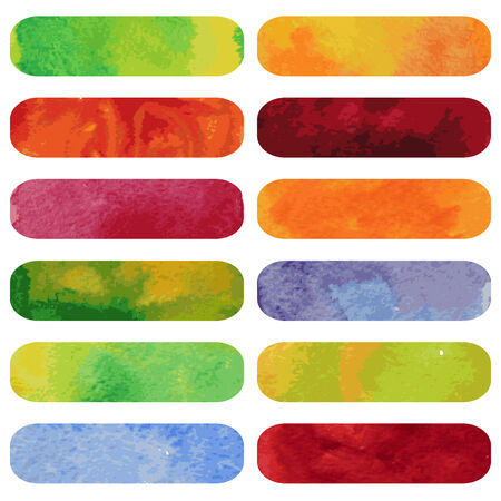 watercolour: Set of colorful watercolour banners