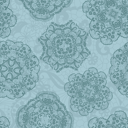 Lace seamless pattern with doilies Illustration