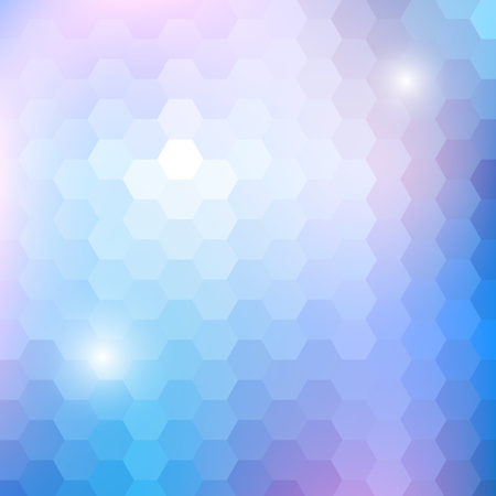 Geometric shining pattern with hexagon Vector