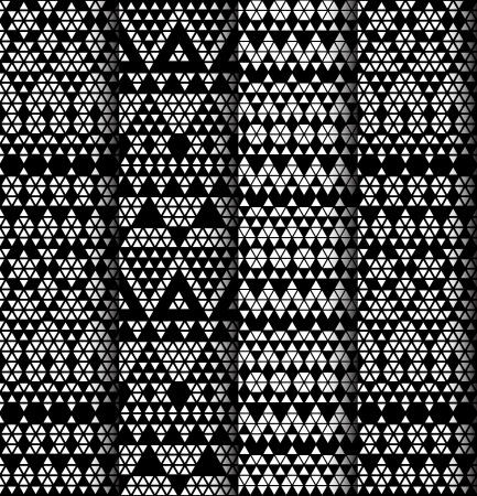 monochromic: Tribal monochrome lace patterns  Vector illustration  Illustration