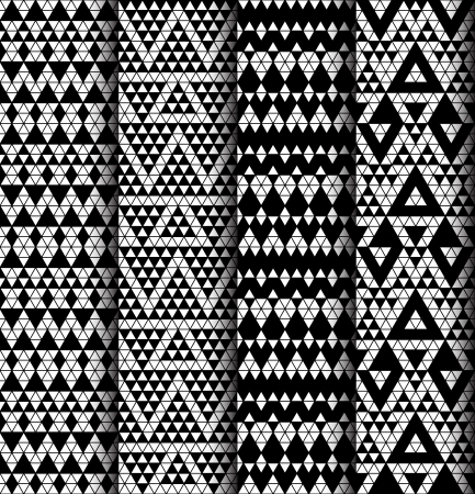 monochromic: Tribal monochrome lace patterns illustration  Illustration