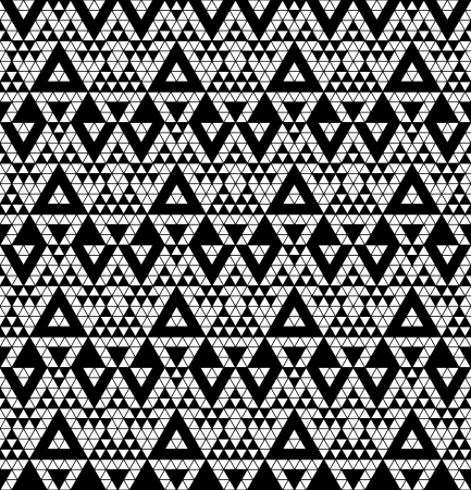 monochromic: Tribal monochrome lace illustration  Illustration