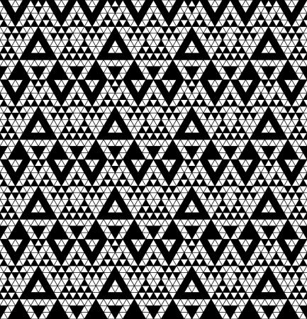 ethno: Tribal monochrome lace illustration  Illustration