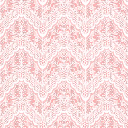 Kant naadloos patroon met bloemen op beige Stock Illustratie