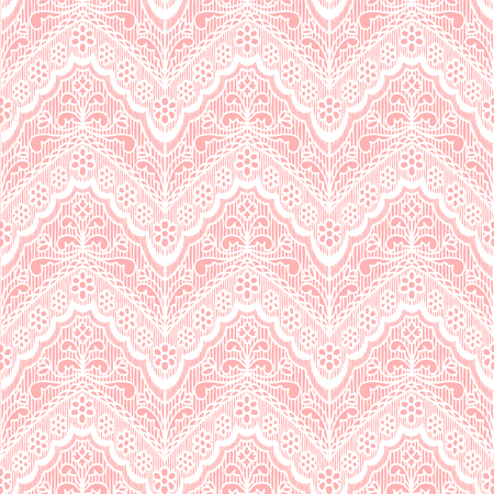 Lace seamless pattern with flowers on beige  Vector