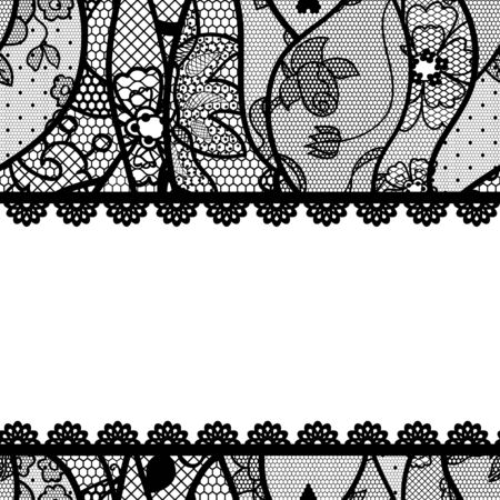 Lacy vintage background  Vector illustration  Vector