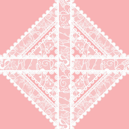 Lacy vintage applique  Vector illustration  Vector