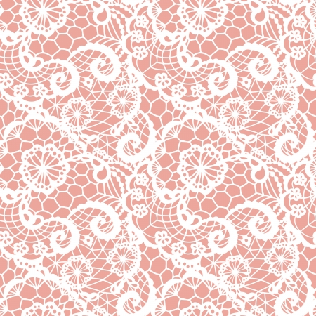 lace vector: Lace seamless pattern with flowers  Vector illustration