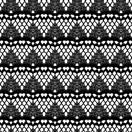 Lace black seamless mesh pattern  Vector illustration