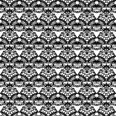 Lace black seamless mesh pattern  Vector illustration