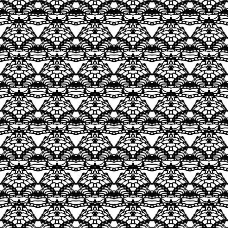 Lace black seamless mesh pattern  Vector illustration Imagens - 25796527