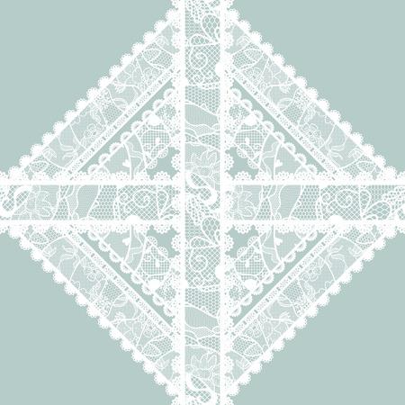 monochromic: Lacy vintage applique  Vector illustration  Illustration