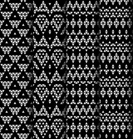 monochromic: Tribal monochrome lace patterns  Vector illustration  Illustration
