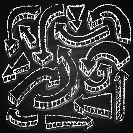 Chalk on board. Vector illustration. Vector
