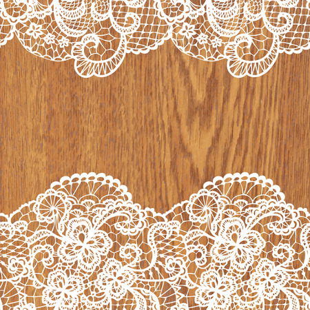tree texture: White lace on tree texture  Vector illustration
