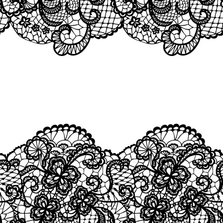 lace background: Seamless lace border. Vector illustration.