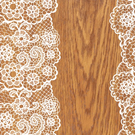 lace vector: White lace on tree texture. Vector illustration.