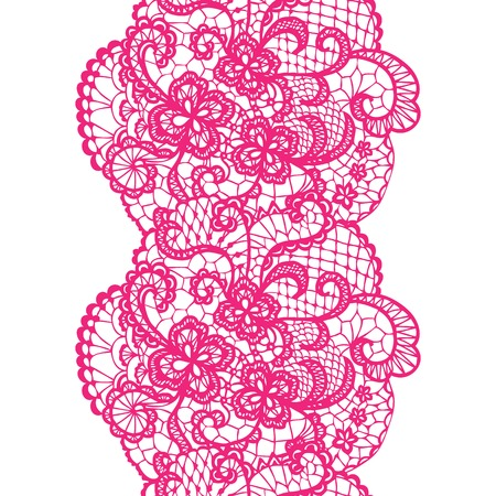 trims: Pink lacy vintage elegant trim.