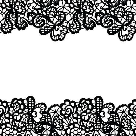 Seamless lace border.  일러스트