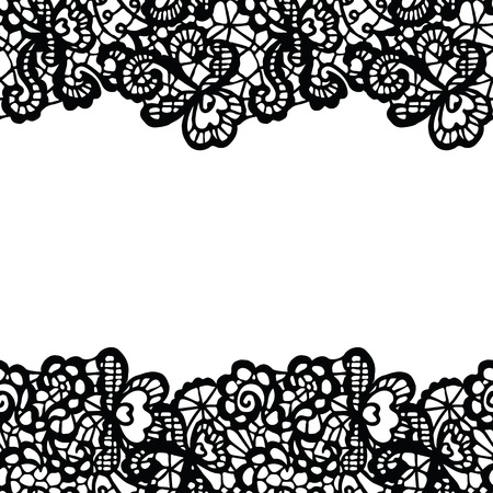 Seamless lace border.  Vector