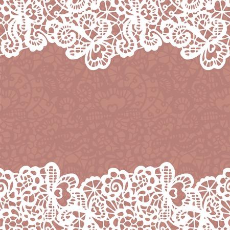 Seamless lace border.  Vettoriali