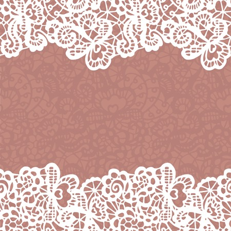 lace: Seamless lace border.  Illustration