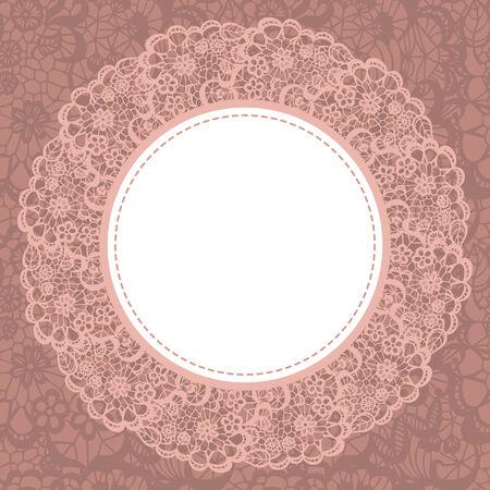 encaje: Doily elegante en el fondo de encaje suave para �lbumes de recortes