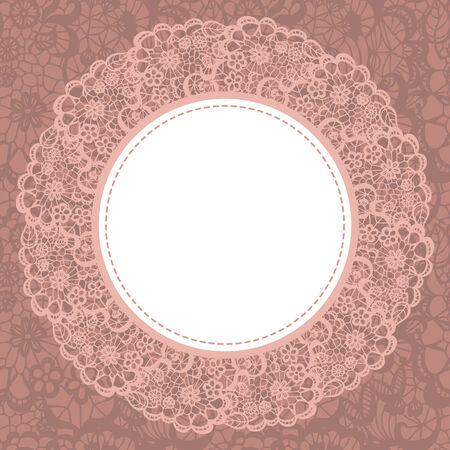 pictures: Elegant doily on lace gentle background for scrapbooks Illustration