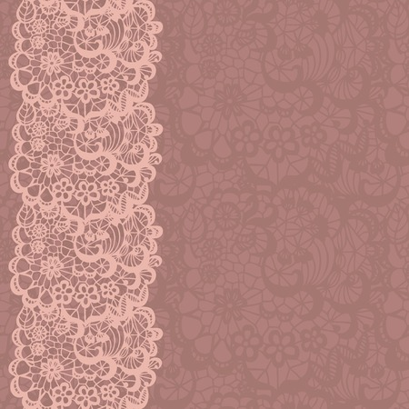 plant cell: Vertical seamless background with a floral lace ornament