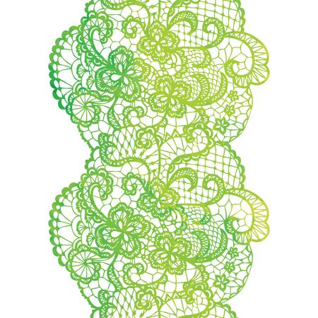 trim: Lacy elegant watercolor border. Lacy vintage trim. Vector illustration. Illustration