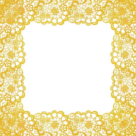 lacy: Lacy elegant frame. Invitation card. Vector illustration.