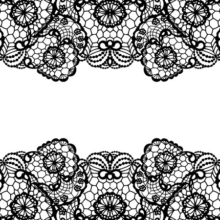 Horizontal seamless background with a floral ornament Illusztráció