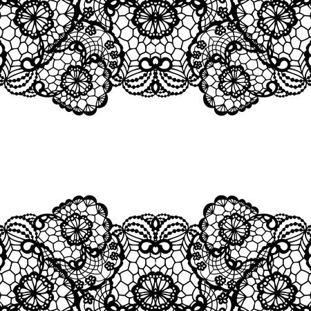 blumen verzierung: Horizontale nahtlose Hintergrund mit einem floralen Ornament