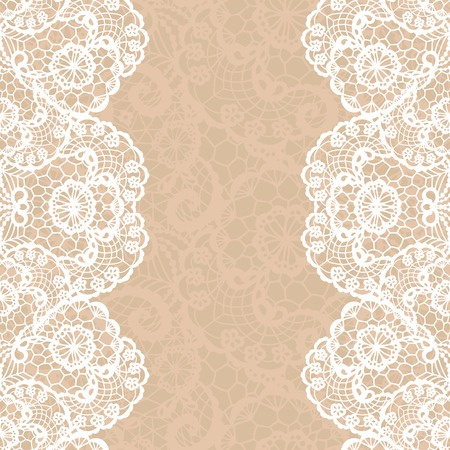 lace vector: Vector black lace on texture, template.