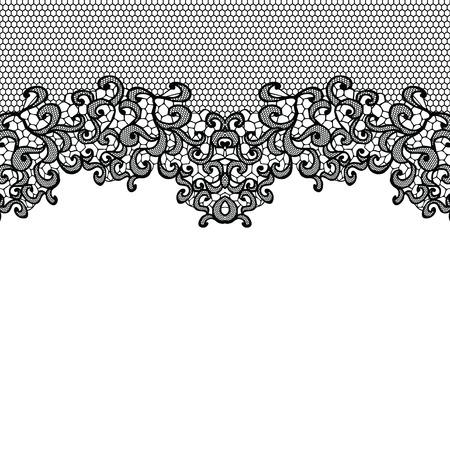 encaje: Color de fondo transparente con un adorno floral Vectores