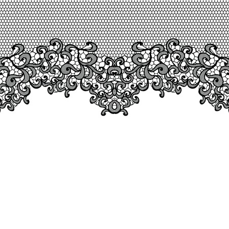 lace background: Horizontal seamless background with a floral ornament Illustration