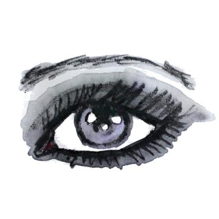 make up: Aquarelle oeil. Maquillage. Vector illustration.