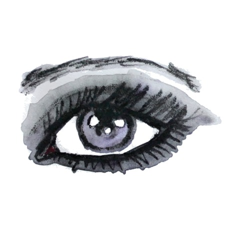 beautiful eyes: Watercolor eye. Make up. Vector illustration. Illustration