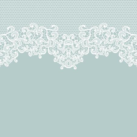 encaje: Cord�n blanco del vector de la textura, plantilla.