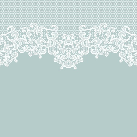 lace frame: White vector lace on texture, template.