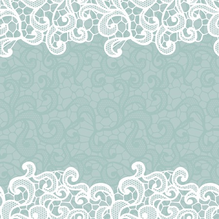 White vector lace on texture, template.