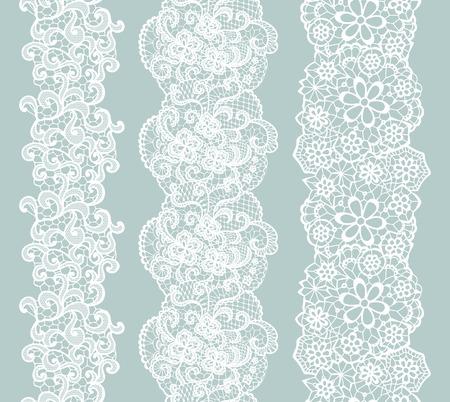 White lacy vintage elegant trim. Vector illustration. Фото со стока - 38121598