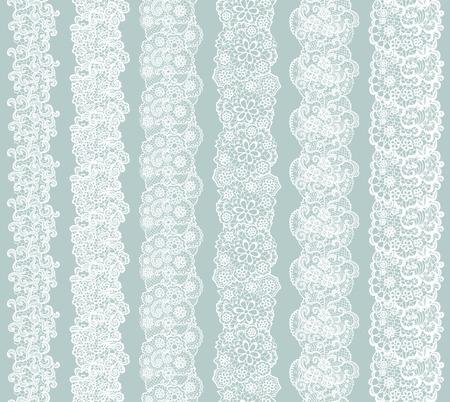 Het wit kanten vintage elegante afwerking. Vector illustratie.