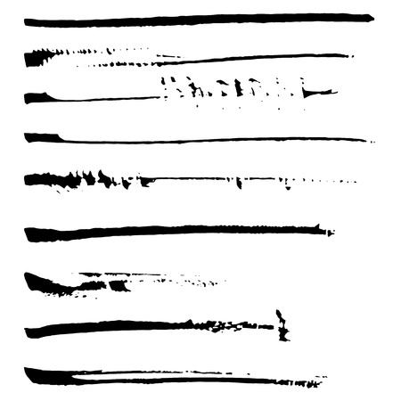 black ink: Set of black ink brushes. Vector brushes.