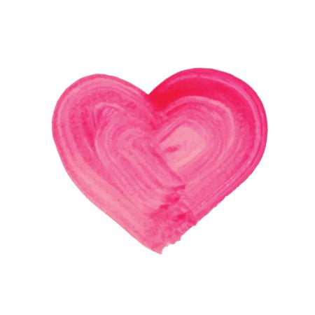 Watercolor hand drawn heart. Vector illustration. Vector