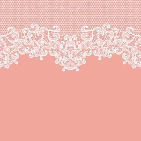 dibujos de flores: Cordón blanco del vector de la textura, plantilla.